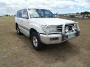2001 Toyota Landcruiser FZJ105R 50th Anniversary GXL White 4 Speed Automatic Wagon Archerfield Brisbane South West Preview