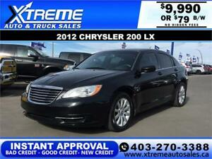 2012 Chrysler 200 $0 DOWN $79 bi-weekly APPLY NOW DRIVE NOW