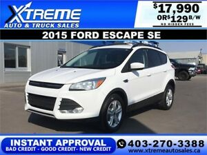 2015 FORD ESCAPE SE $129 BI-WEEKLY *INSTANT APPROVAL*