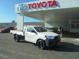 2016 Toyota Hilux TGN121R Workmate Glacier White 5 Speed Manual Cab Chassis Belmore Canterbury Area Preview