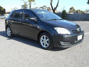 2006 Toyota Corolla ZZE122R MY06 Upgrade Conquest Seca Black 4 Speed Automatic Hatchback Maidstone Maribyrnong Area Preview