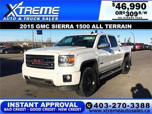 2015 GMC SIERRA ALL TERRAIN LIFTED *INSTANT APPROVAL* $309/BW