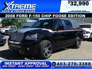 2008 Ford F-150 Chip Foose Edition 450 Horsepower Low Km
