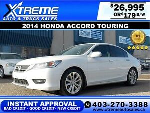 2014 Honda Accord Touring $179 bi-weekly APPLY NOW DRIVE NOW