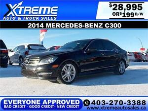 2014 Mercedes-Benz C-300 $109 BI-WEEKLY APPLY NOW DRIVE NOW