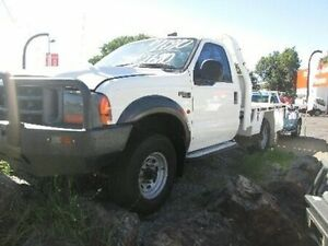 2002 Ford F250 XL White 5 Speed Manual Cab Chassis Coopers Plains Brisbane South West Preview