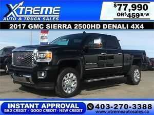 2017 GMC Sierra 2500HD Denali $459 bi-weekly APPLY NOW DRIVE NOW