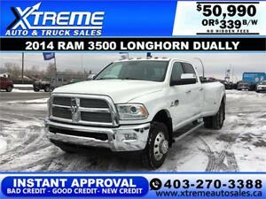 2014 RAM 3500 LONGHORN DUALLY *INSTANT APPROVAL* $0 DOWN $339/BW