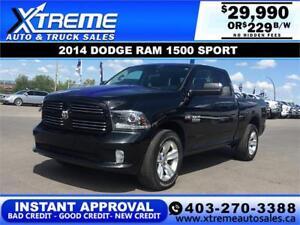 2014 RAM 1500 SPORT QUAD CAB *INSTANT APPROVAL* $0 DOWN $219/BW!