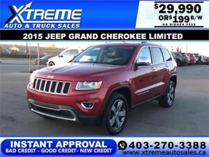 2015 JEEP GRAND CHEROKEE LIMITED $199 B/W APPLY NOW DRIVE NOW