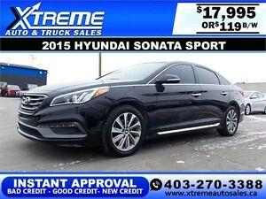 2015 Hyundai Sonata Sport $119 bi-weekly APPLY NOW DRIVE NOW