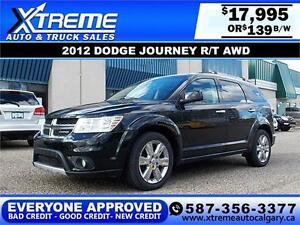 2012 Dodge Journey R/T AWD  $139 BI-WEEKLY APPLY NOW DRIVE NOW