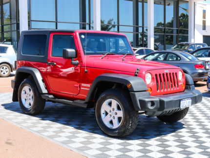 2008 Jeep Wrangler JK Sport Red 6 Speed Manual Softtop