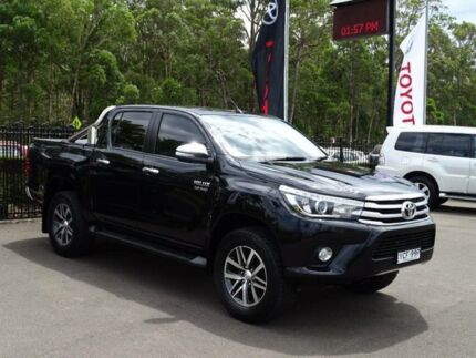 2016 Toyota Hilux GUN126R SR5 (4x4) Black 6 Speed Manual Dual Cab Utility South Nowra Nowra-Bomaderry Preview