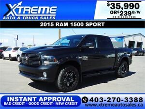 2015 RAM 1500 SPORT CREW CAB *INSTANT APPROVAL* $0 DOWN $239/BW