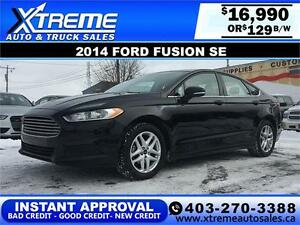 2014 Ford Fusion SE $129 bi-weekly APPLY NOW DRIVE NOW