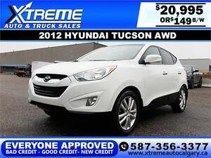 2012 Hyundai Tucson Limited $149 bi-weekly APPLY NOW DRIVE NOW