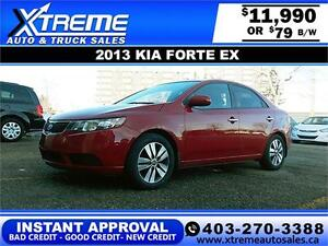 2013 Kia Forte EX $79 bi-weekly APPLY NOW DRIVE NOW