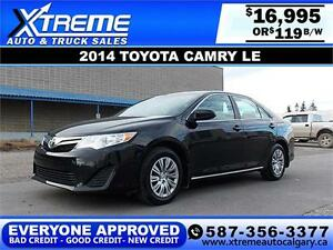 2014 Toyota Camry LE $119 Bi-Weekly APPLY NOW DRIVE NOW