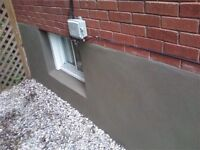 Parging and Concrete repairs $350 to $700 maximum charge