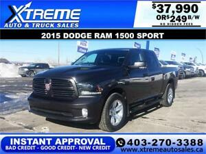 2015 RAM 1500 SPORT CREW CAB *INSTANT APPROVAL* $0 DOWN $249/BW!