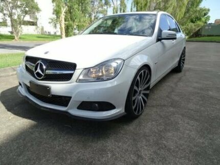 2011 Mercedes-Benz C200 W204 MY11 BlueEFFICIENCY 7G-Tronic + Elegance White 7 Speed Sports Automatic Archerfield Brisbane South West Preview