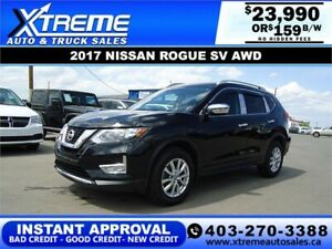 2017 NISSAN ROGUE SV AWD *INSTANT APPROVAL* $159/BW!