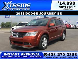2013 Dodge Journey SE $129 BI-WEEKLY APPLY NOW DRIVE NOW