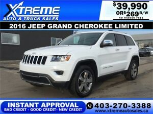 2016 Jeep Grand Cherokee Limited $269 b/w APPLY NOW DRIVE NOW