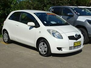 2008 Toyota Yaris NCP90R YR White 4 Speed Automatic Hatchback Ulladulla Shoalhaven Area Preview