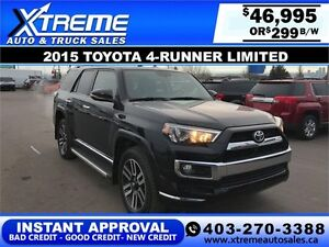 2015 Toyota 4-Runner Limited $299 BI-WEEKLY APPLY NOW DRIVE NOW