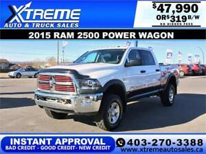 2015 RAM 2500 POWER WAGON *INSTANT APPROVAL* $0 DOWN $319/BW!