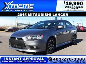 2015 MITSUBISHI LANCER GT $129 Bi-Weekly APPLY NOW DRIVE NOW