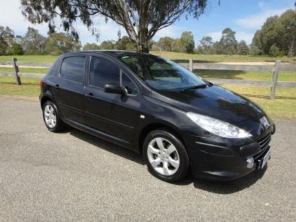 2006 Peugeot 307 MY06 Upgrade XSE 2.0 Black 4 Speed Tiptronic Hatchback Mordialloc Kingston Area Preview
