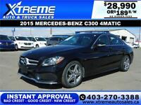 2015 MERCEDES-BENZ C300 4MATIC $189 B/W $0 DOWN APPLY NOW Calgary Alberta Preview