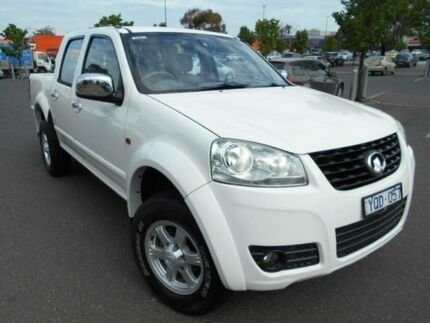 2011 Great Wall V200 K2 (4x2) White 6 Speed Manual Dual Cab Utility Braybrook Maribyrnong Area Preview