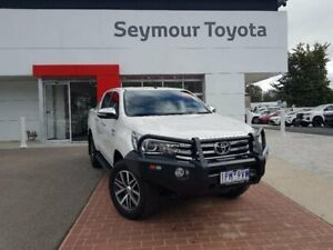 2016 Toyota Hilux GUN126R SR5 (4x4) Crystal Pearl 6 Speed Automatic Dual Cab Utility Seymour Mitchell Area Preview