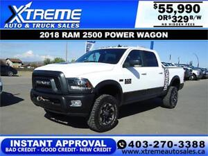 2018 RAM 2500 POWER WAGON CREW CAB *INSTANT APPROVAL* $329/BW!