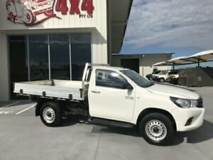 2016 Toyota Hilux GUN126R SR SINGLE CAB White Manual Cab Chassis Bells Creek Caloundra Area Preview