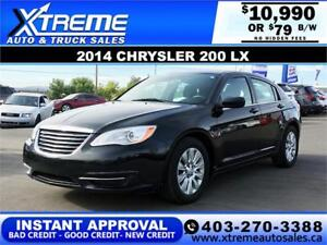 2014 CHRYSLER 200 LX $79 Bi-Weekly *$0 DOWN* APPLY NOW DRIVE NOW