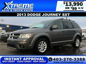 2013 Dodge Journey SXT $99 bi-weekly APPLY NOW DRIVE NOW