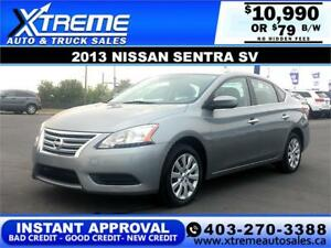 2013 NISSAN SENTRA SV $79 Bi-Weekly APPLY NOW DRIVE NOW
