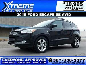 2015 Ford Escape SE AWD $139 BI-WEEKLY APPLY NOW DRIVE NOW