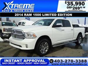 2014 RAM 1500 LIMITED EDITION *INSTANT APPROVAL* $269/BW $0 DOWN