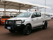 2015 Toyota Hilux GUN126R SR (4x4) White 6 Speed Manual Dual Cab Chassis East Rockingham Rockingham Area Preview