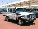 2014 Toyota Landcruiser VDJ79R MY12 Update GXL (4x4) White 5 Speed Manual Double Cab Chassis