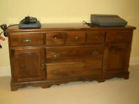 Compact And Lightweight Wood Bureau In Good Condition