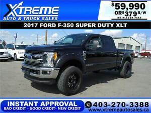 2017 FORD F-350 XLT LIFTED *INSTANT APPROVAL* $0 DOWN $379/BW