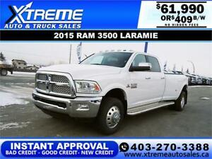 2015 RAM 3500 LARAMIE DUALLY *INSTANT APPROVED* $409/BI-WEEKLY