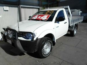 2015 Mitsubishi Triton MN MY15 GLX (4x4) White 5 Speed Manual 4x4 Cab Chassis West Hindmarsh Charles Sturt Area Preview